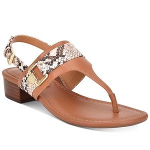 Tommy Hilfiger Keely Light Brown Sandals Thongs